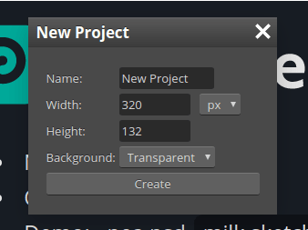 file new dialog on photopea