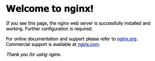 nginx default static page